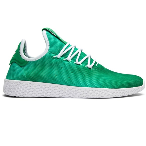 New Men Adidas Pharrell Tennis HU Holi Green Shoes 42f46eb2e